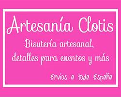 logo, artesania clotis, bisuteria y complementos