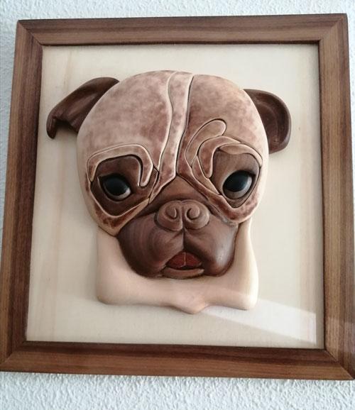 cuadro mascota en madera, decoracion hogar