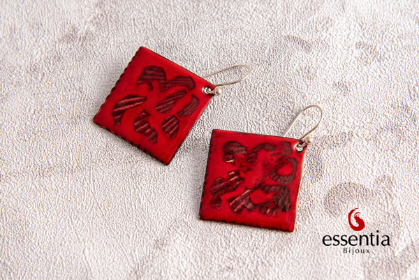 pendientes esmalte al fuego, complementos mujer, moda, fashion, artesania, plata, regalos mujer