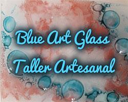 Blue Art Glass, logo. fusing, vidrio