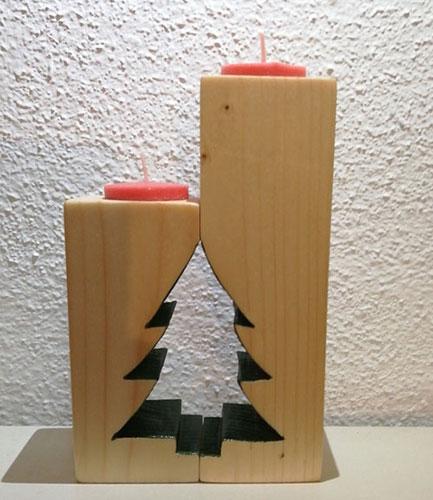 candelabro de madera, decoracio hogar, velas
