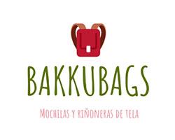 bakkubags, logo, mochilas de tela