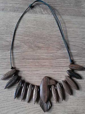pendientes y colgantes de madera, bisuteria para mujer