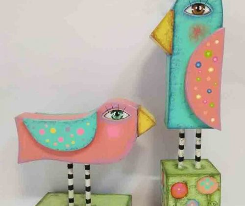ecultura de pajaros, diseño, artesania, cartapesta